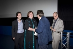 Genny & Alessandor receive Audience Award from James Morris, Chairman of the Irish Film Board